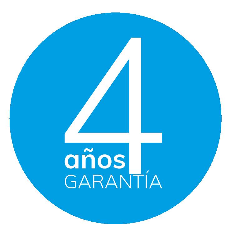 GARANTIA TOTAL DE HASTA 4 AÑOS EN TODOS NUESTROS EQUIPOS E INSTALACIONES
